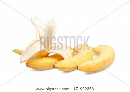 Two Bananas On A White Background Isolated