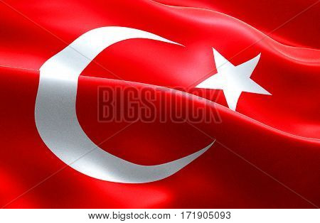 flag of turkey strip waving texture fabric background national symbol islam arabic culture migration refugees crisis concept