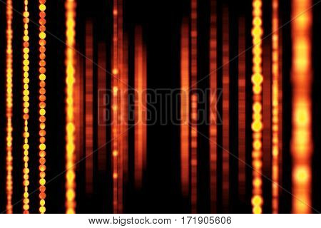 Abstract Christmas Background With Bokeh And Golden Strip, Valentine Day Love Holiday Event Festive