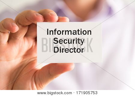 Information Security Director Text On Card