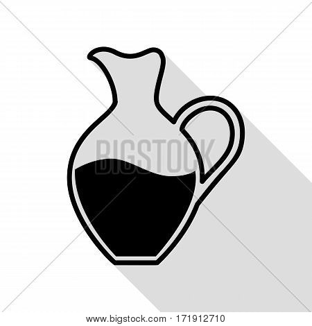 Amphora sign. Black icon with flat style shadow path.
