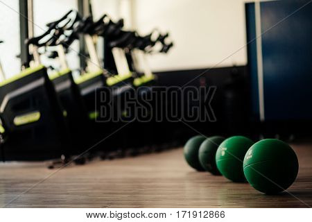 Medicine Ball Fitness And Cycling Background