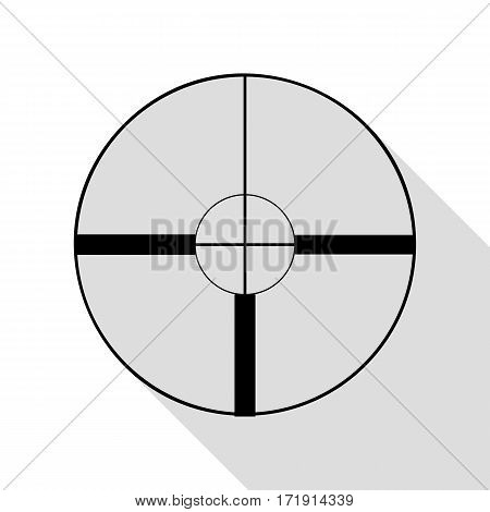 Sight sign illustration. Black icon with flat style shadow path.