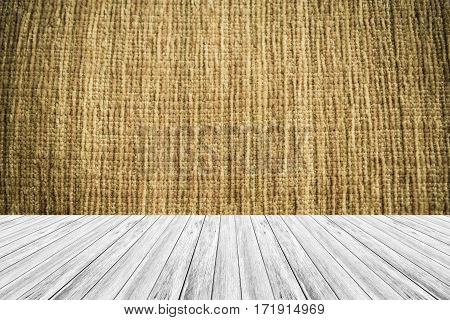 Wood Terrace And Fabric Texture Vintage Style
