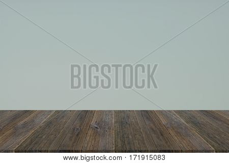 Wall Texture Background With Wood Terrace