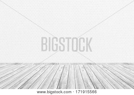 Wood Terrace And Wallpaper Interior Texture