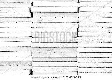 Stone Wall Texture , Process In White Color