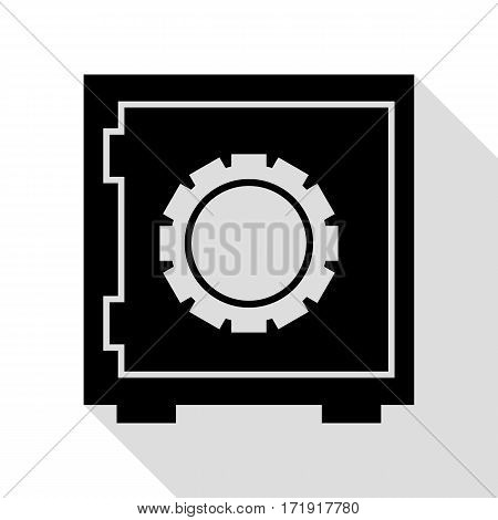 Safe sign illustration. Black icon with flat style shadow path.