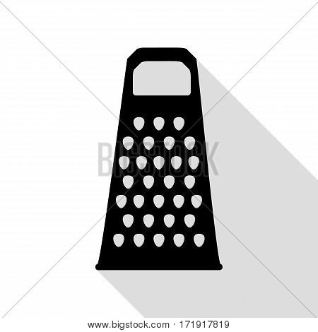 Cheese grater sign. Black icon with flat style shadow path.