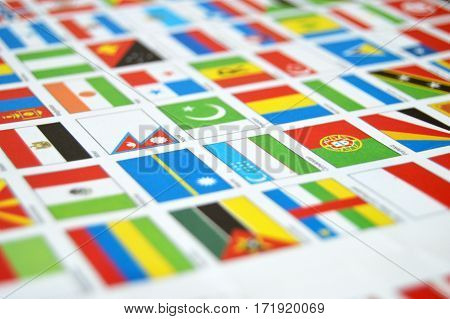 atlases and state flags, world,state flags, world