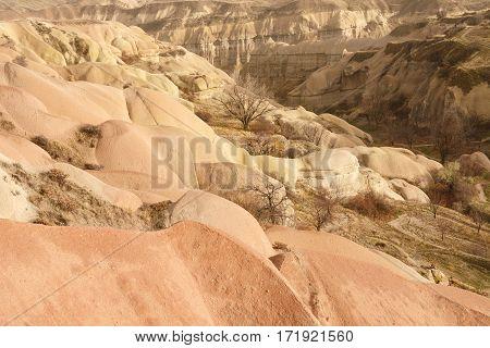 View of Pidgeon Valley Cappadocia in Turkey