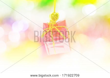 Blure beautiful christmas decoration on abstract background
