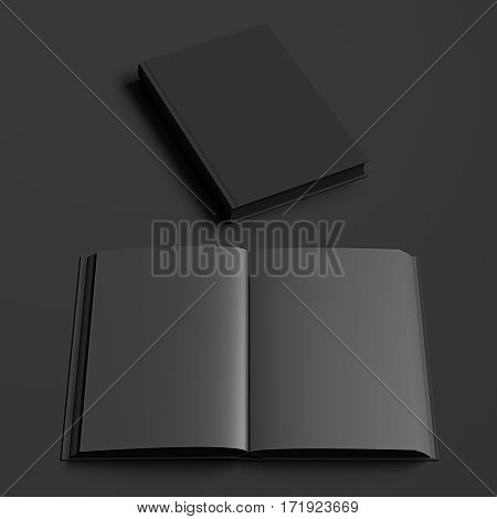 Open And Closed Books With Blank Pages