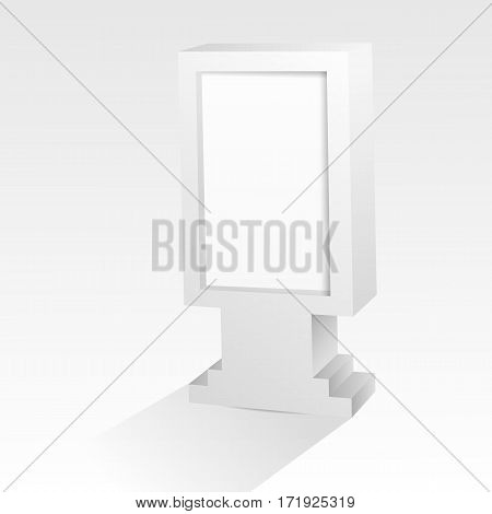 Mock Up Empty Bilboard Vector Illustration Eps 10