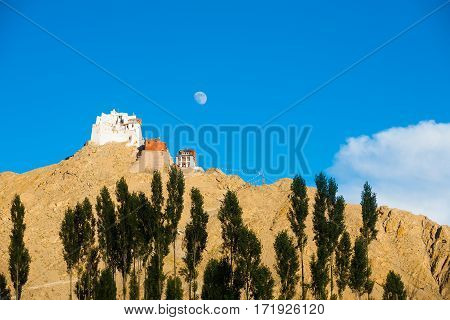 Leh Tsemo Castle Gompa Moon Mountaintop H