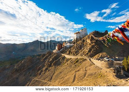 Leh Tsemo Fort Gompa Valley Mountains Ladakh H