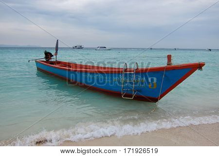 KOH LAN THAILAND - CIRCA DECEMBER 2016 Fishing boat