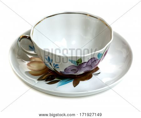 teacup isolated on white background