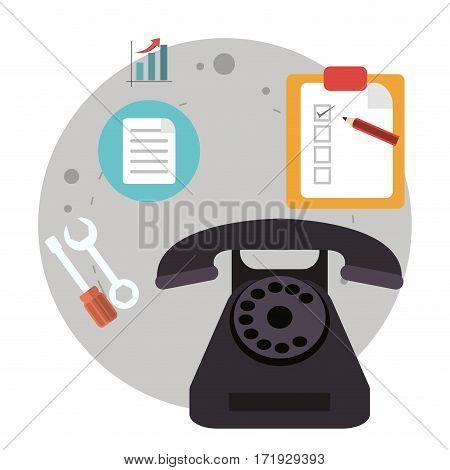 telephone call center logistic vector illustration eps 10