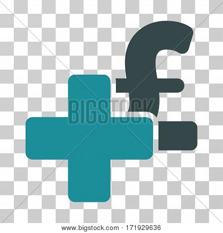 Add Pound vector icon. Illustration style is a flat iconic bicolor soft blue symbol on a transparent background.