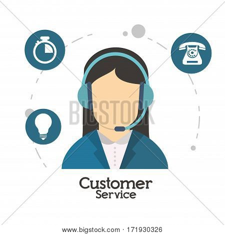 customer service character operator vector illustration eps 10