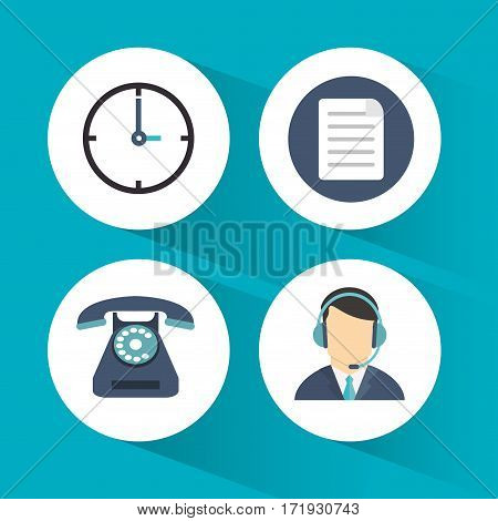 call center service line vector illustration eps 10