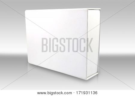 Realistic White Package Box. For Software electronic device and other products.
