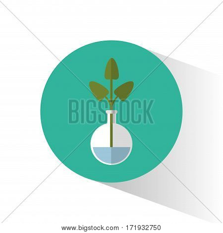 biology plant testt tube school icon vector illustration eps 10