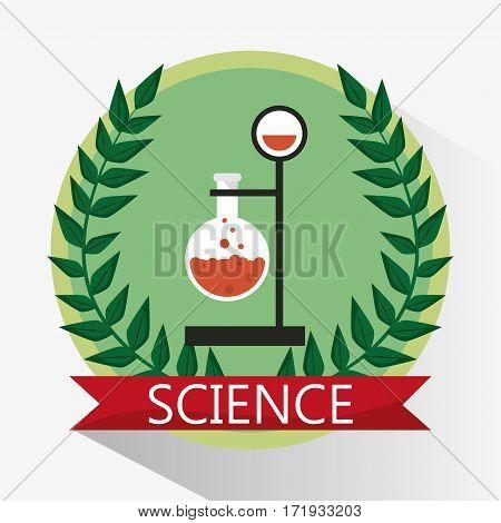 science laboratory beaker stamp vector illustration eps 10