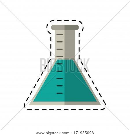 cartoon laboratory test tube chemisty vector illustration eps 10
