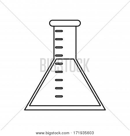 laboratory test tube chemisty thin line vector illustration eps 10