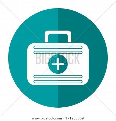 first aid case medical emergency shadow vector illustration eps 10