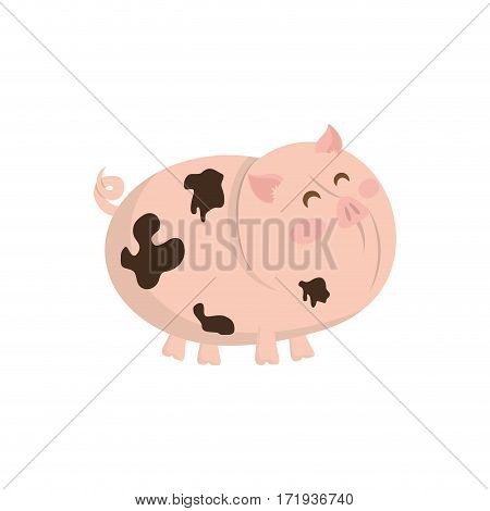 pork farm animal icon vector illustration graphic design