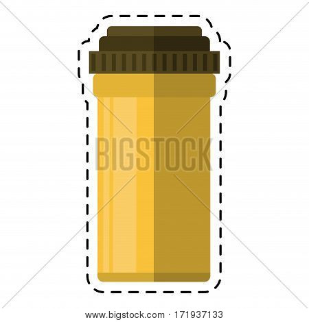 cartoon medical bottle pills pharmacy vector illustration eps 10