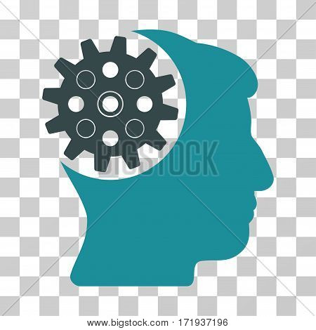 Head Gear vector icon. Illustration style is a flat iconic bicolor soft blue symbol on a transparent background.