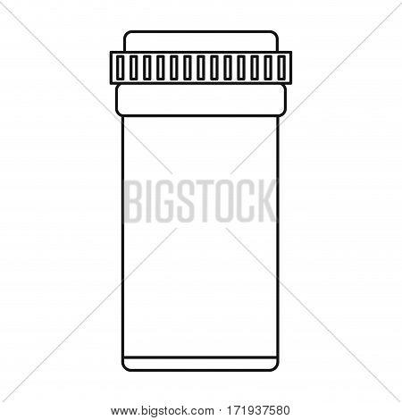 medical bottle pills pharmacy thin line vector illustration eps 10