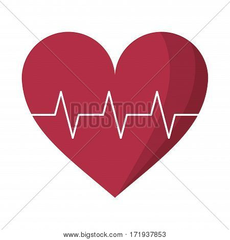 heart pulse rhythm cardio vector illustration eps 10