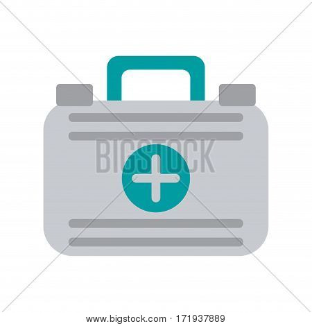 first aid case medical emergency vector illustration eps 10