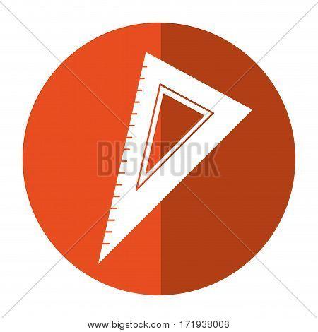 triangle ruler utensil shadow vector illustration eps 10