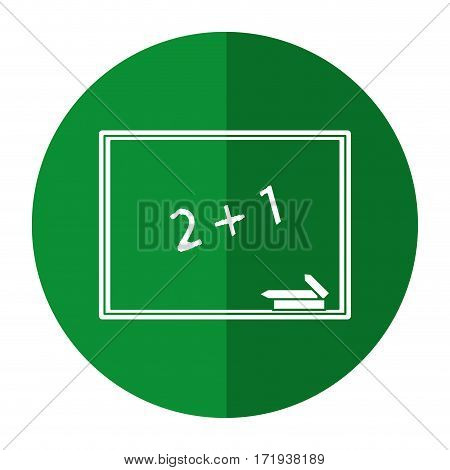 chalkboard class school chalk shadow vector illustration eps 10