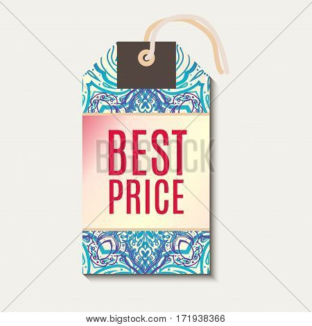 Tag for Diwali sale Banner discount. With indian background. For advertising, business, websites, print