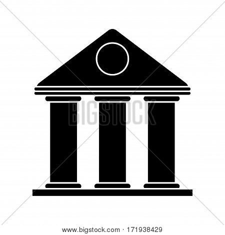 university building style temple pictogram vector illustration eps 10