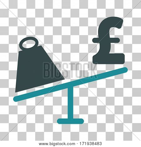 Market Pound Price Swing vector icon. Illustration style is a flat iconic bicolor soft blue symbol on a transparent background.