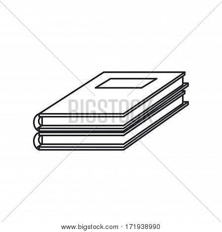 notebook study educational icon thin line vector illustration eps 10