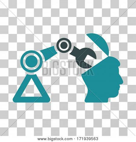Open Head Surgery Manipulator vector pictogram. Illustration style is a flat iconic bicolor soft blue symbol on a transparent background.