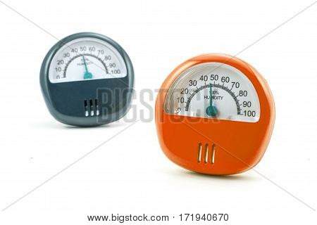 The hygrometer isolated on white a background