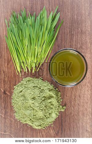 Barley Grass With Beverage And Young Powder Barley, Body Detox