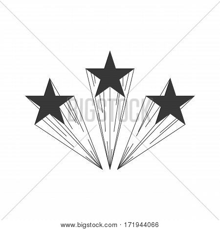 Shooting Star Logo or Banner or Layout Template