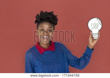 African Woman Studio Portrait Concept