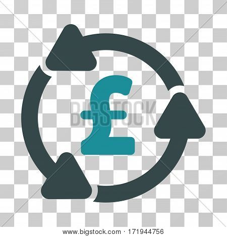 Pound Circulation vector pictogram. Illustration style is a flat iconic bicolor soft blue symbol on a transparent background.